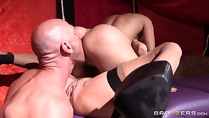 Johnny Sins banging Nora Noir with the addition of Veronica Avluv