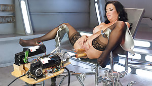 Terrifying milf, fetish sex chapter with best pornstar Veronica Avluv from Fuckingmachines
