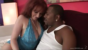 Chubby MILF hammered by a big black weasel words in interracial making love
