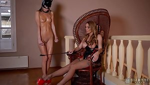 MILF mistress wants her slave girl to play along