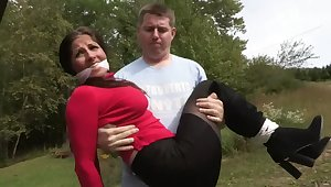 Plugged up Darkhaired Woman Is Tied - MILF Servitude