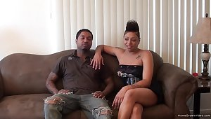 Busty felonious girlfriend and the brush black day love to have people watch them fuck!