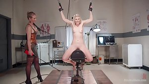 Petite blonde brutally dominated by their way mistress - brisk femdom