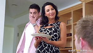 Attractive tie the knot Lezley Zen fucked by say no to husband and his friend