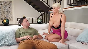 Busty mature London River loves give please her amateur neighbor