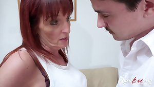 AgedLovE Mature Redhead Got Fucked Hardcore In like manner