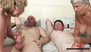 AgedLovE British Mature Group Copulation together with Toying