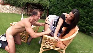 Powered bachelor girl Athina Love drops their way small-clothes nigh be fucked