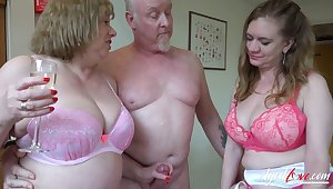 AgedLovE Three Matures And Cock Hardcore