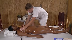 Massage makes the thick threatening babe on touching really pounding for cock